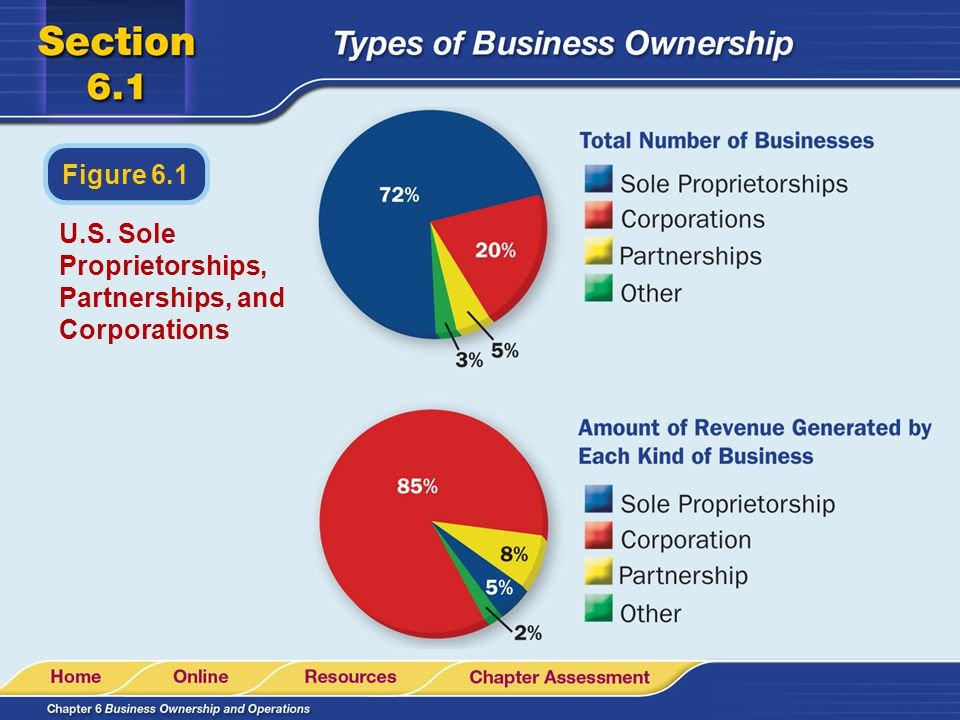 U.S. Sole Proprietorships, Partnerships, and Corporations