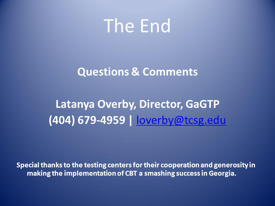 Latanya Overby, Director, GaGTP
