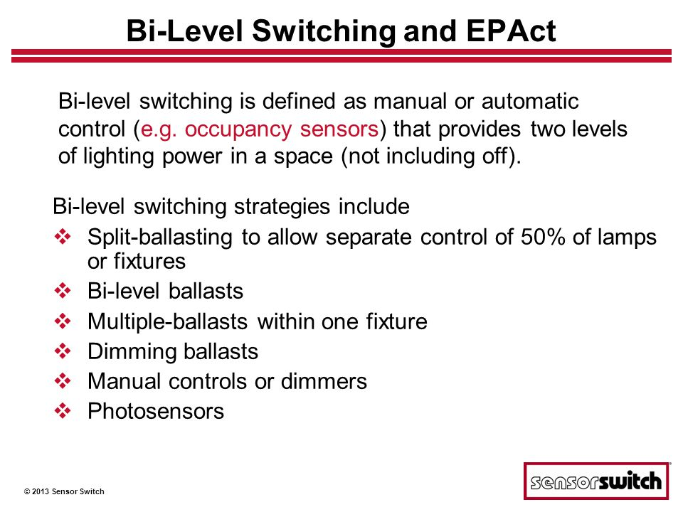 Bi-Level Switching and EPAct