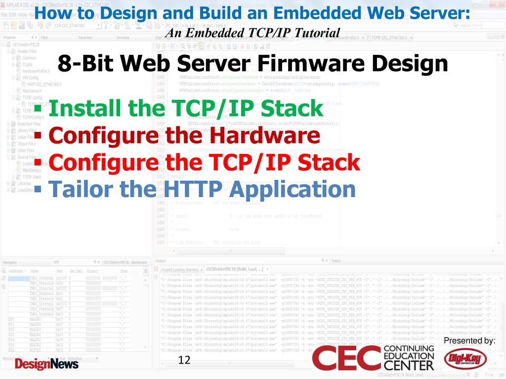 Class 2: Design and Build an 8-bit Embedded Web Server - ppt download