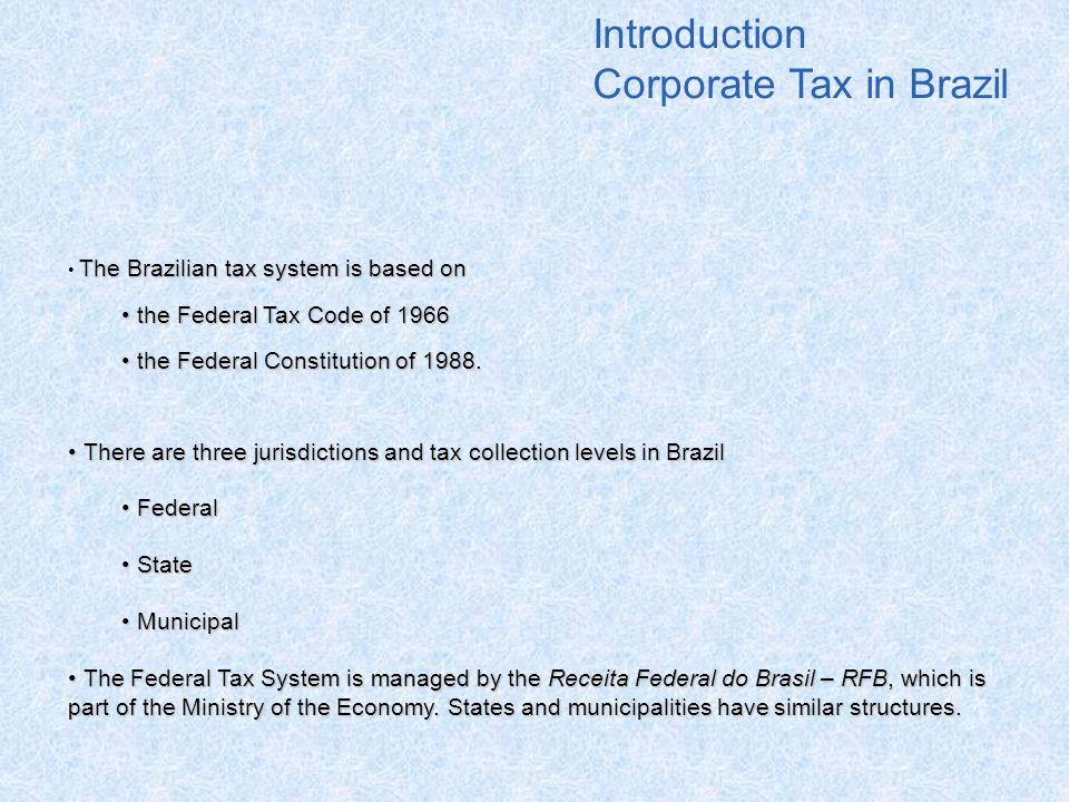 Corporate Tax in Brazil
