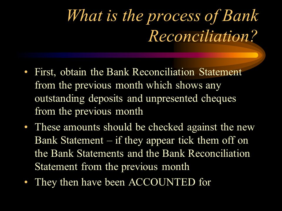 What is the process of Bank Reconciliation