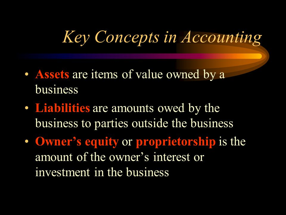 Key Concepts in Accounting