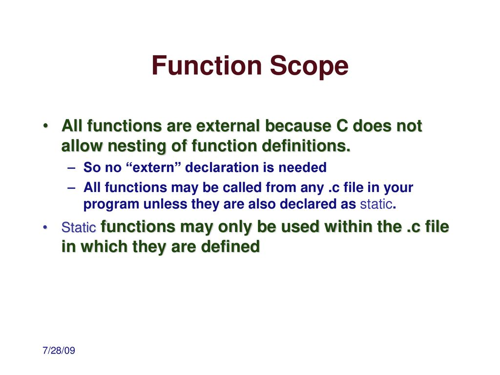 Programming in C Miscellaneous Topics  - ppt download