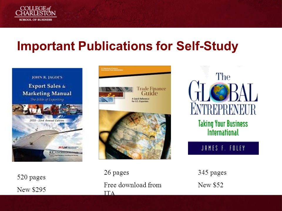 Important Publications for Self-Study