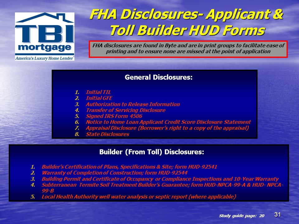 Fha Tbi Origination Process Ppt Download