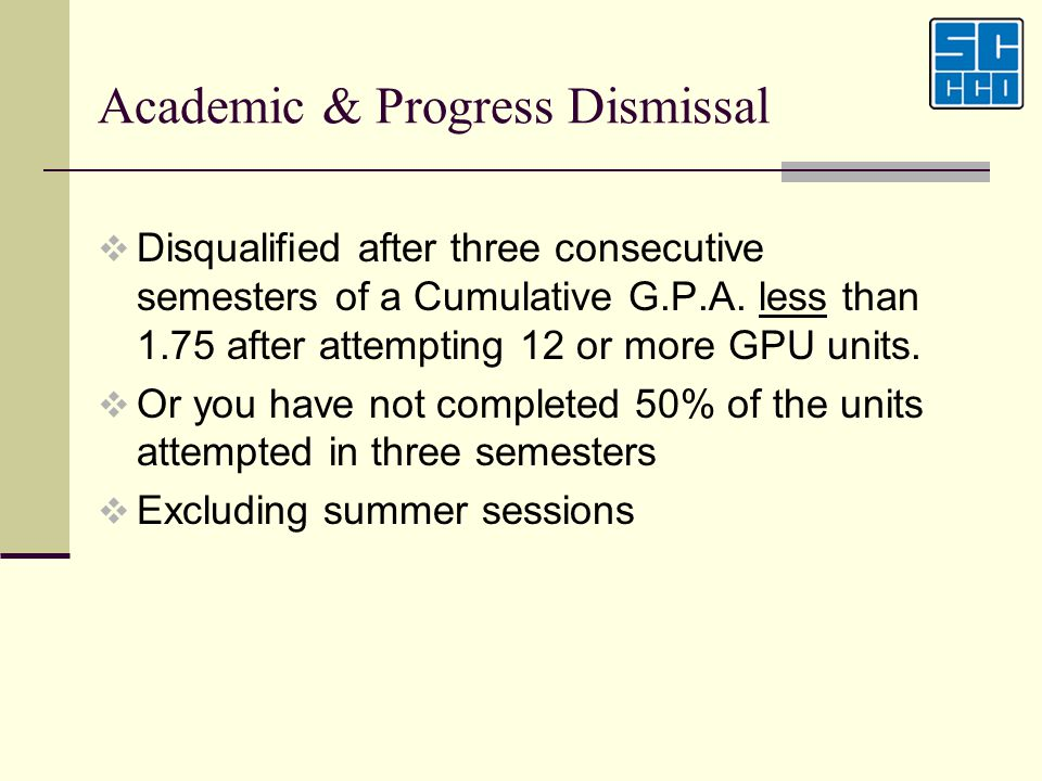 Academic & Progress Dismissal