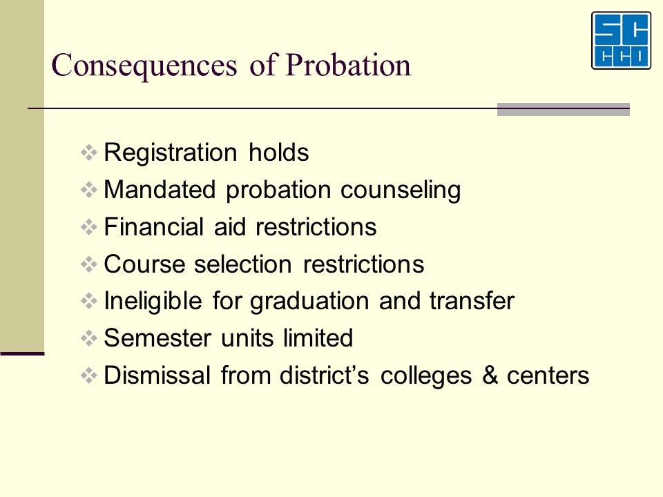 Consequences of Probation