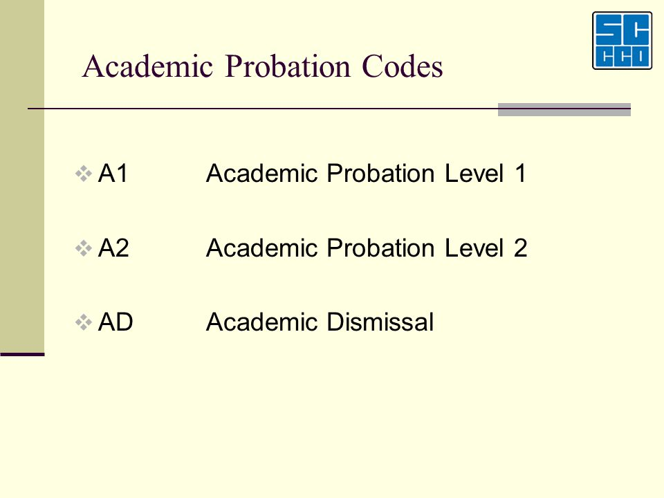 Academic Probation Codes