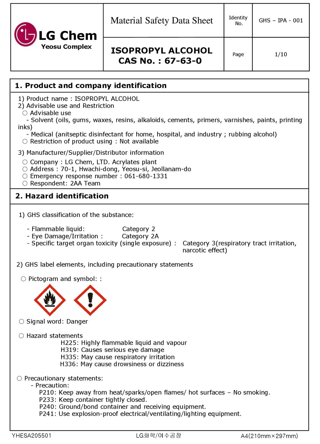 Material Safety Data Sheet - ppt download