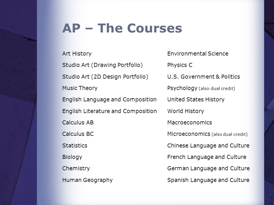 AP – The Courses Art History Studio Art (Drawing Portfolio)