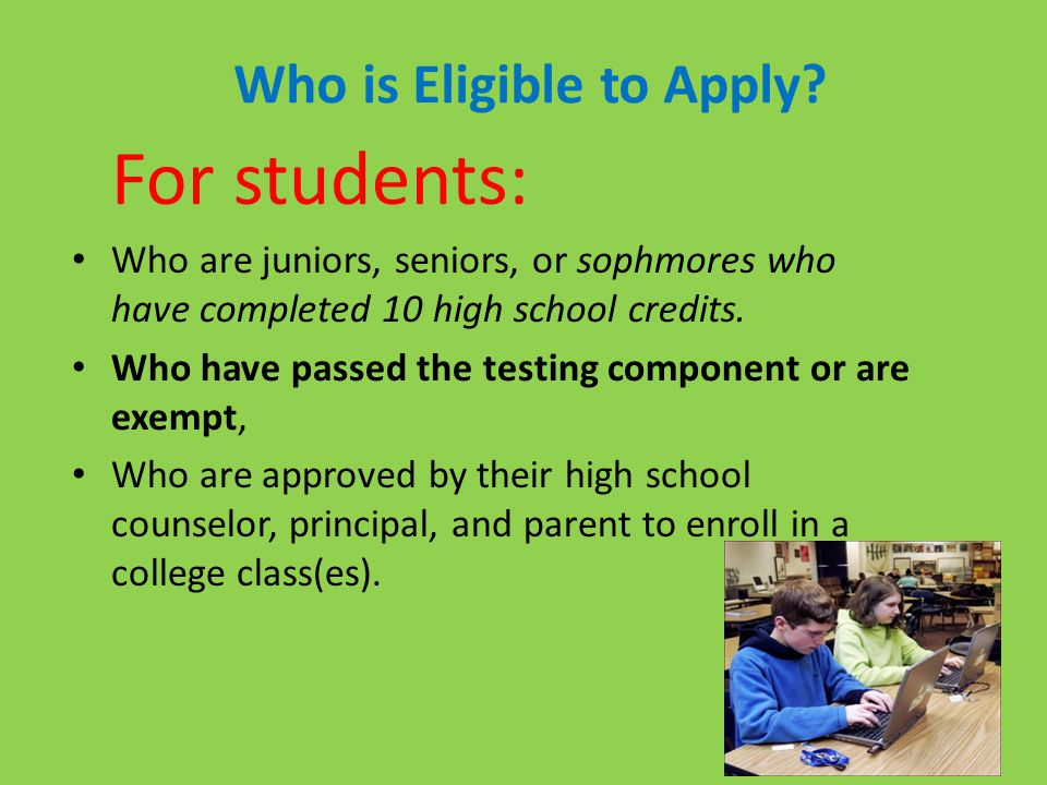 Who is Eligible to Apply