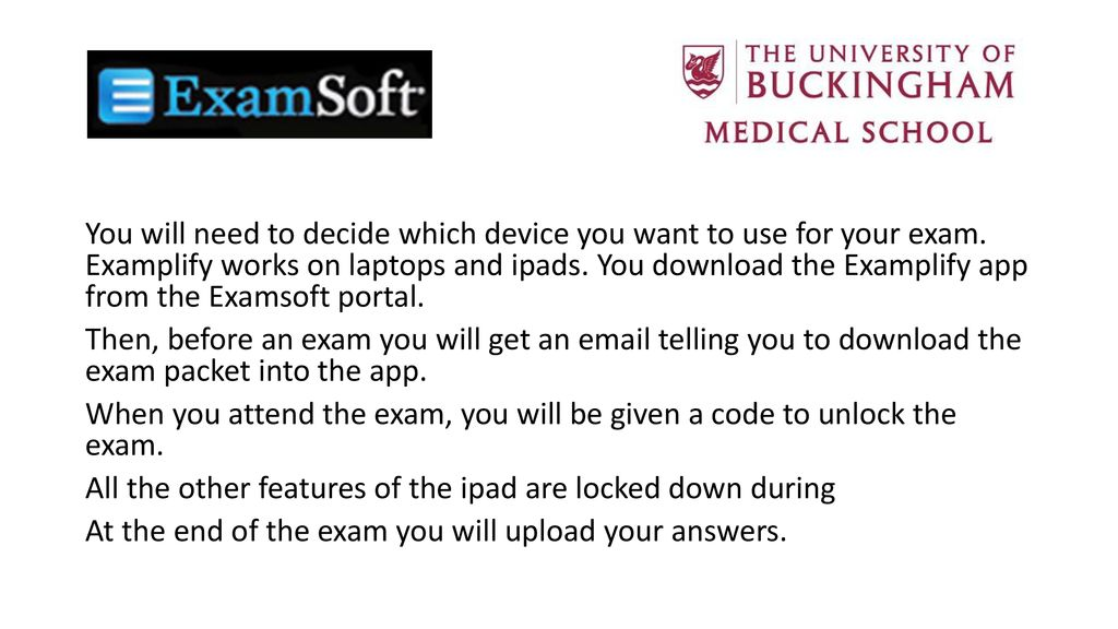 Taking a digital exam with Examsoft - ppt download