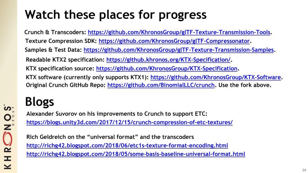 Compressed Texture Transmission Format - ppt download