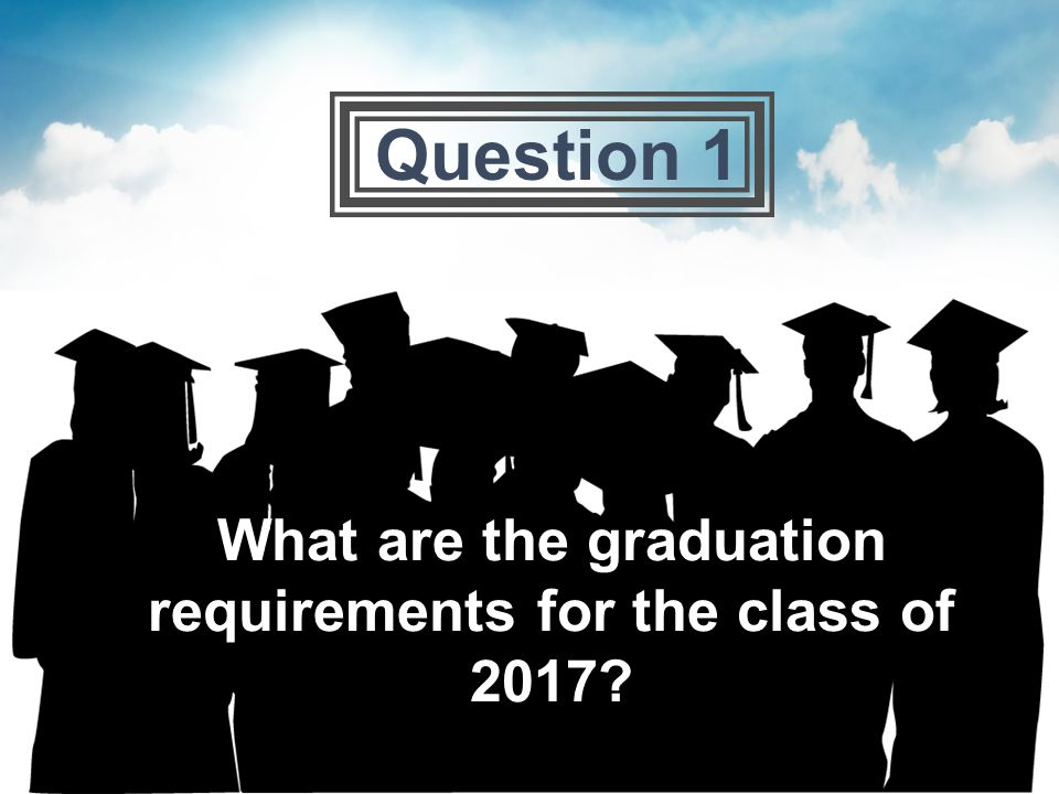 What are the graduation requirements for the class of 2017