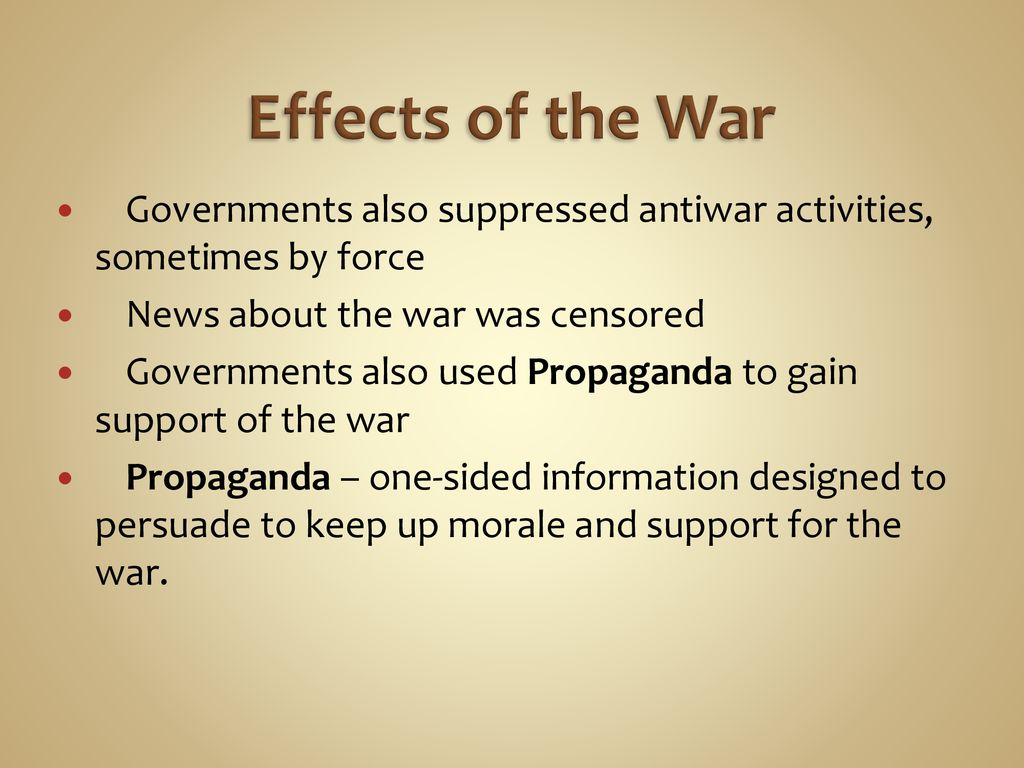 The War To End All Wars The Great War Ppt Download