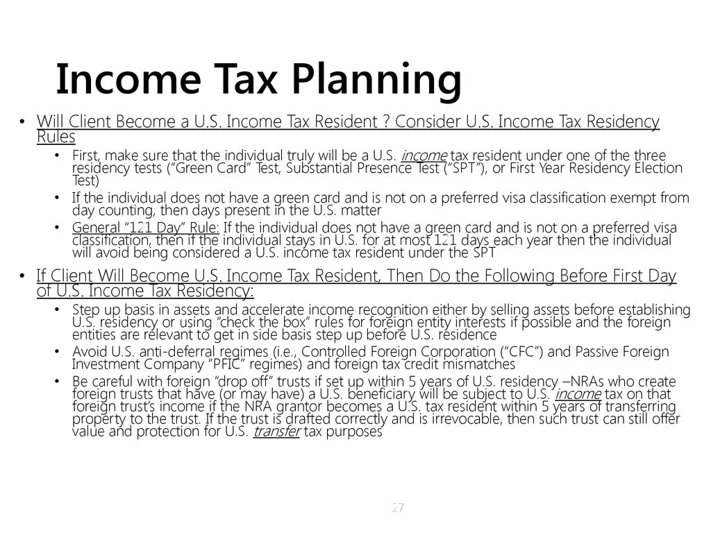 International Income Tax Planning For Inbound Taxpayers Ppt Download