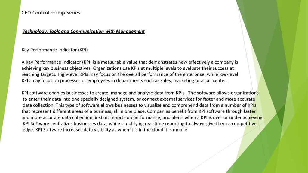 Controllership CFO Series - ppt download