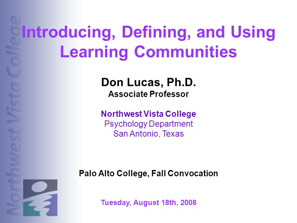 Introducing, Defining, and Using Learning Communities