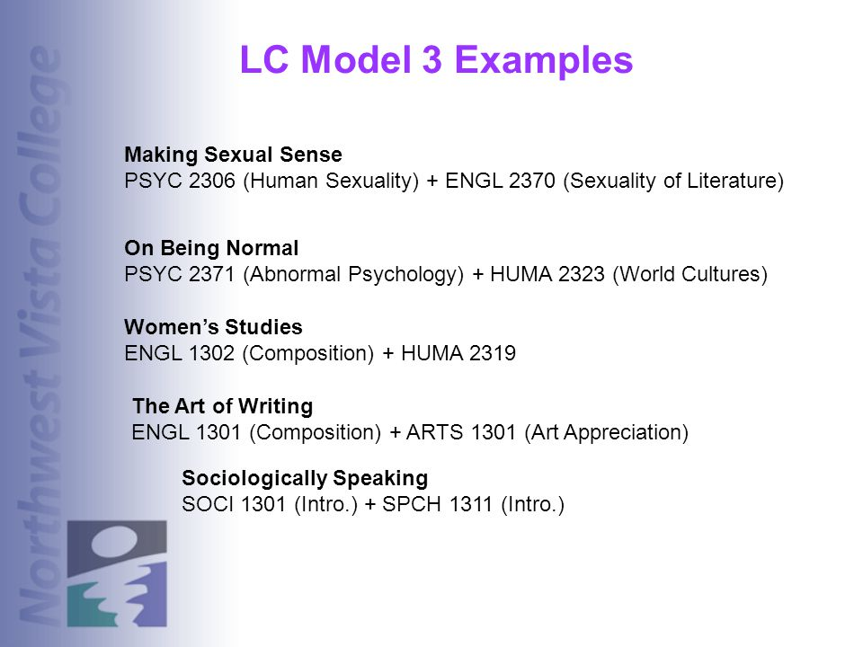 LC Model 3 Examples Making Sexual Sense
