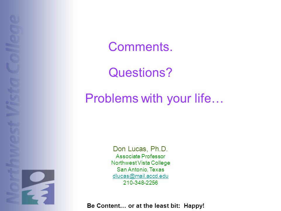 Problems with your life…