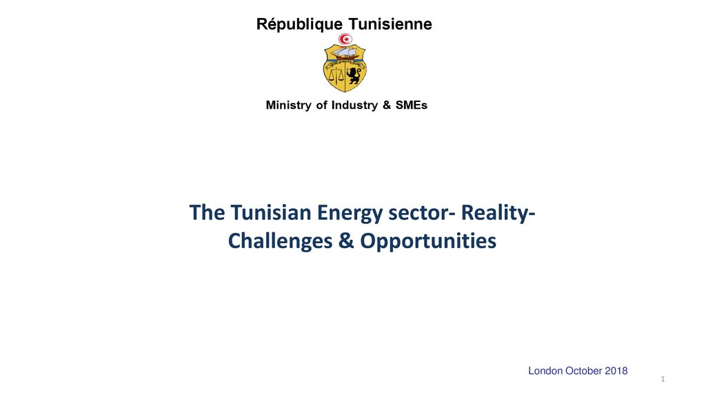 The Tunisian Energy sector- Reality-Challenges