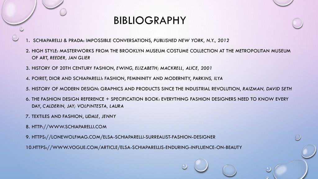Research Proposal Elsa Schiaparelli Ppt Download