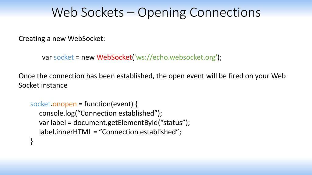 Web Socket Protocol  - ppt download
