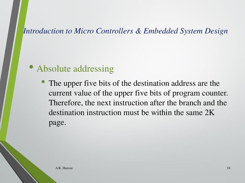 Introduction To Micro Controllers Embedded System Design Ppt Download