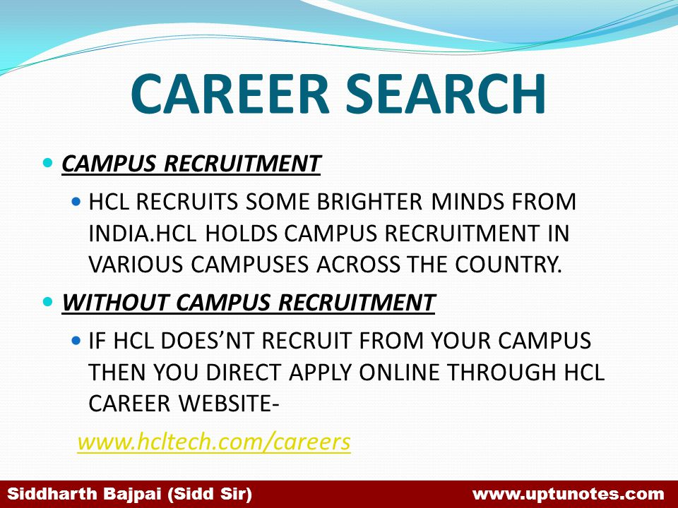 CAREER SEARCH CAMPUS RECRUITMENT