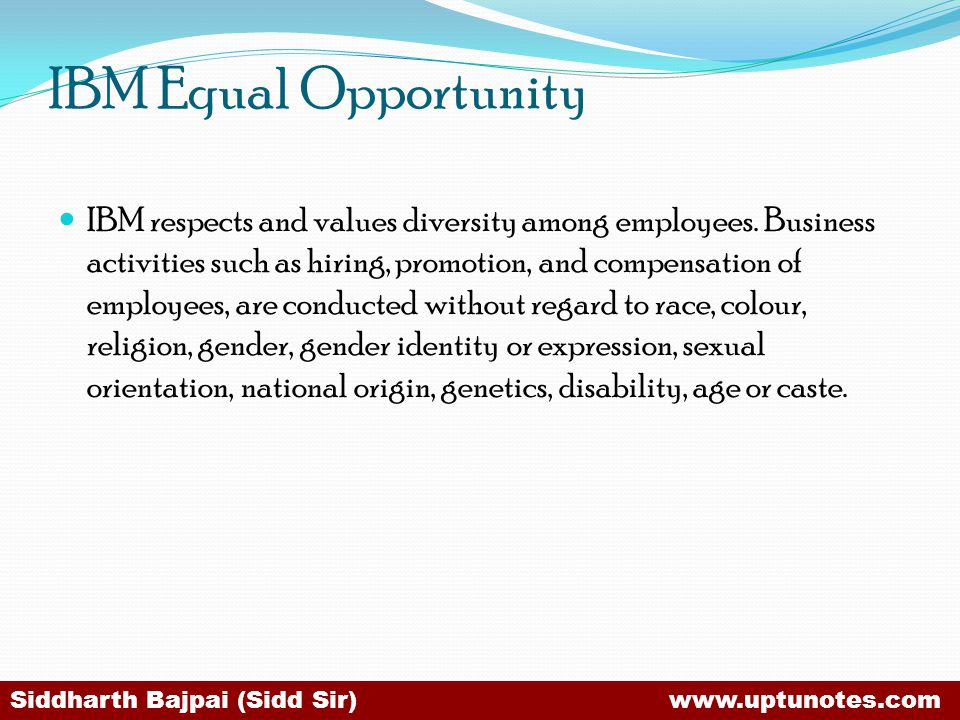 IBM Equal Opportunity