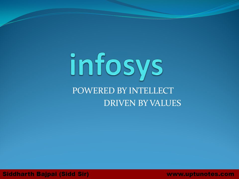 POWERED BY INTELLECT DRIVEN BY VALUES