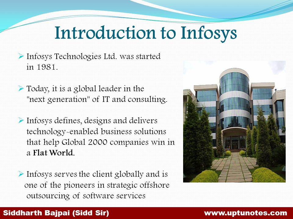 Introduction to Infosys