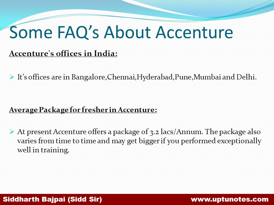 Some FAQ's About Accenture