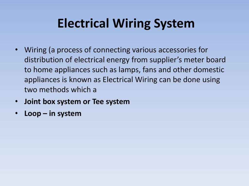 Domestic Electrical Wiring System