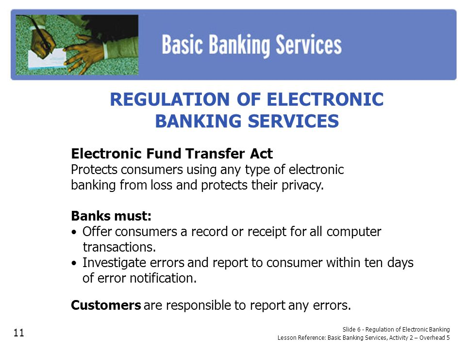 REGULATION OF ELECTRONIC