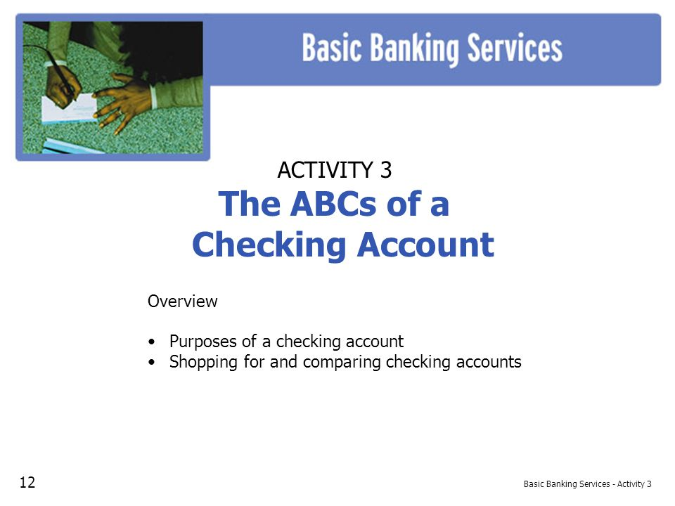 Basic Banking Services - Activity 3