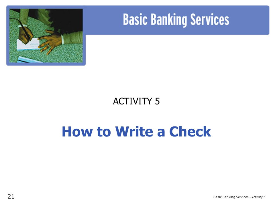 Basic Banking Services - Activity 5