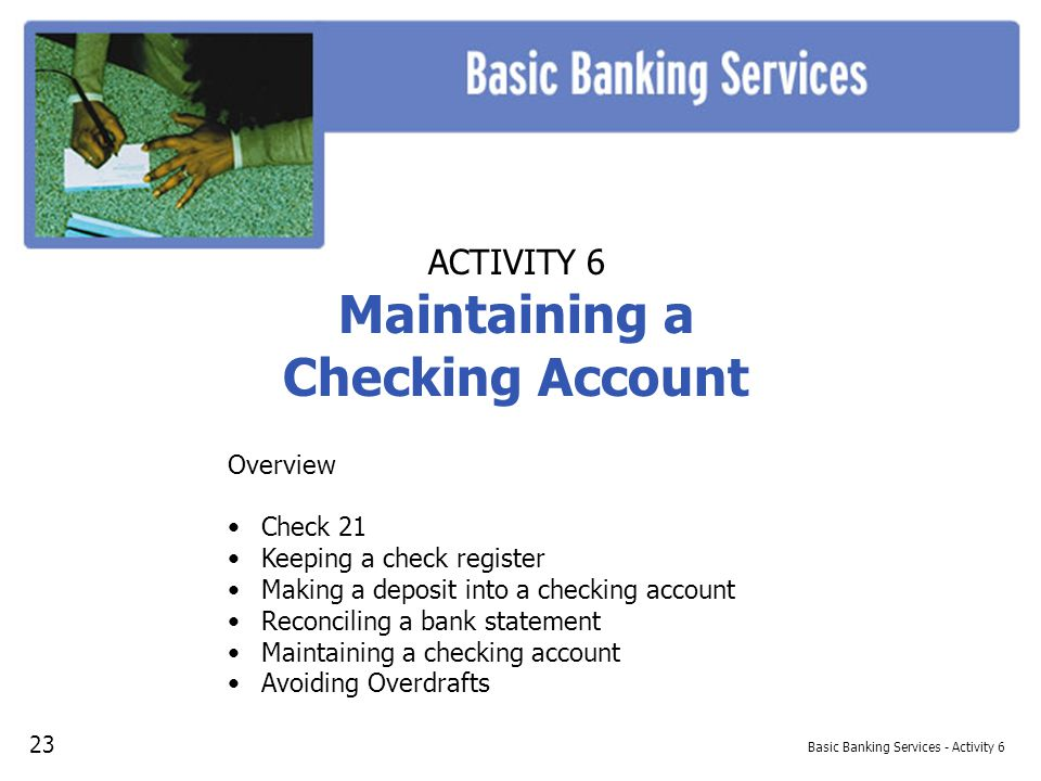 Basic Banking Services - Activity 6