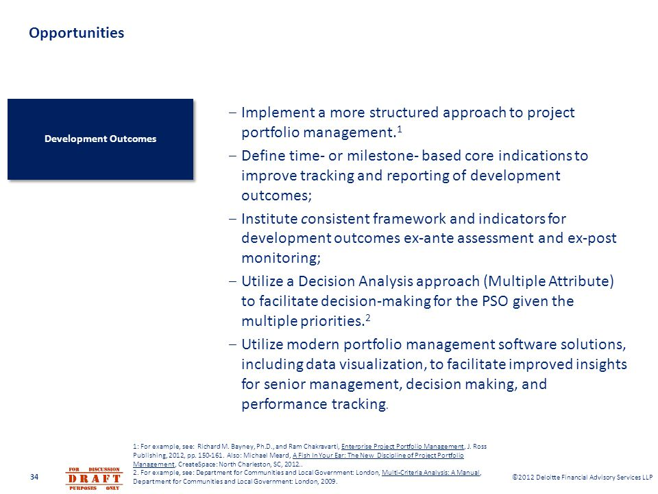 Implement a more structured approach to project portfolio management.1