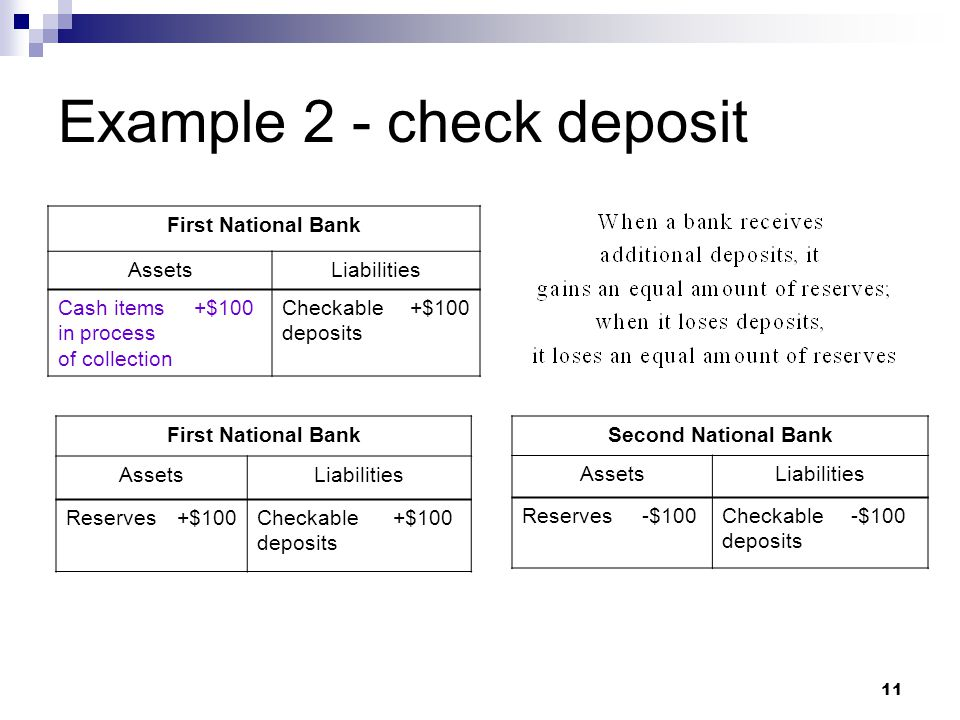 Example 2 - check deposit