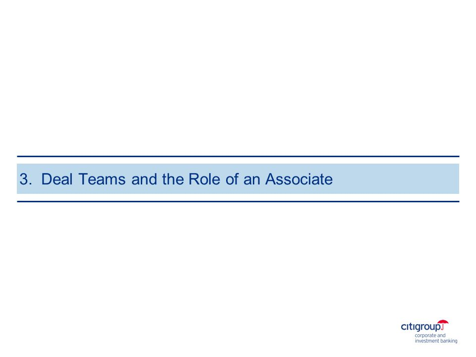 3. Deal Teams and the Role of an Associate