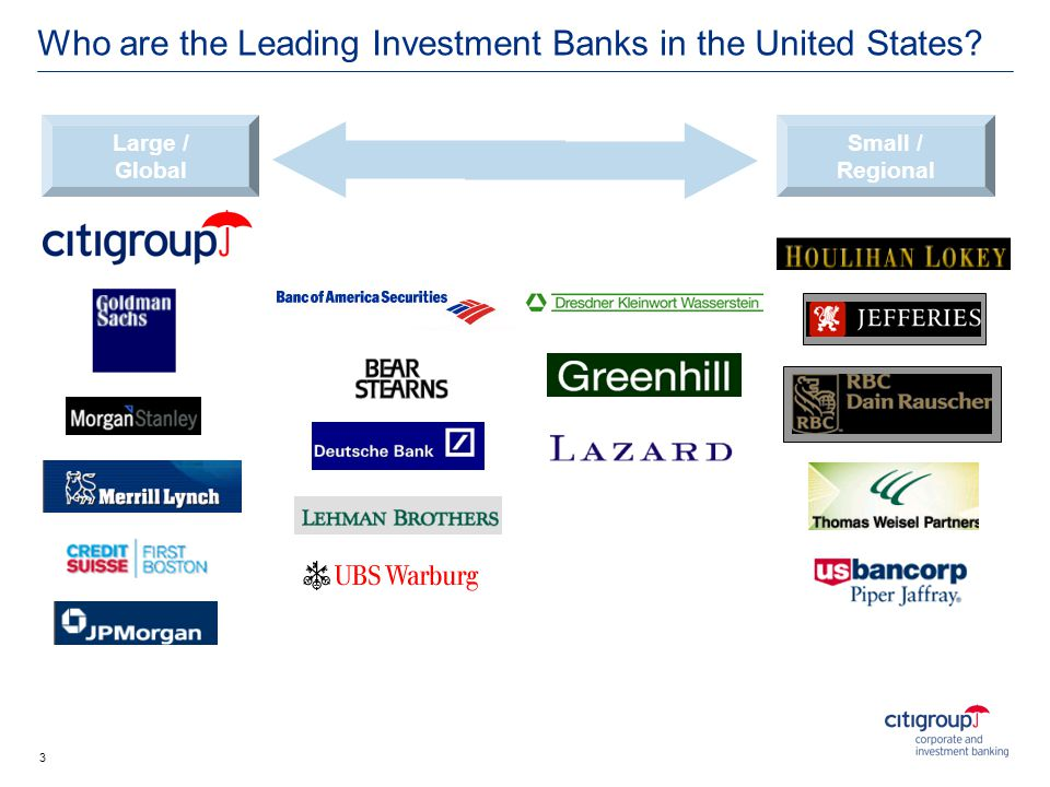 Who are the Leading Investment Banks in the United States