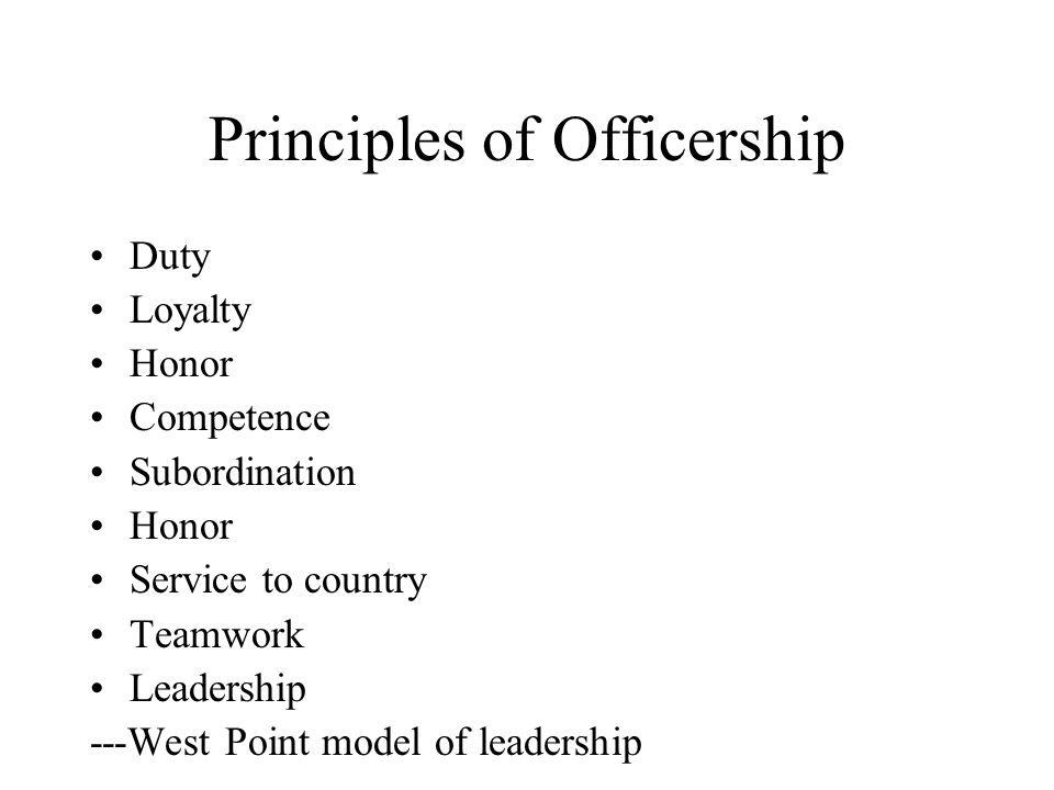 Principles of Officership