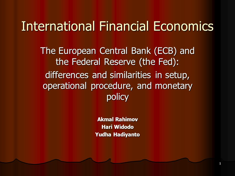 International Financial Economics