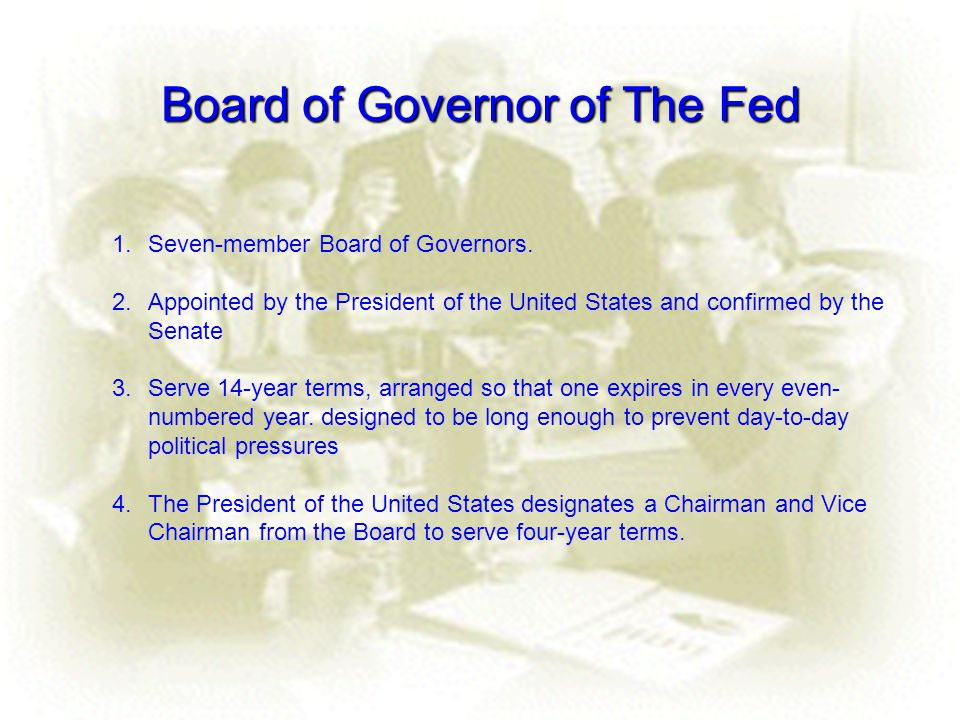 Board of Governor of The Fed