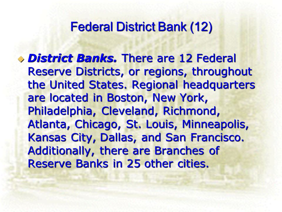 Federal District Bank (12)