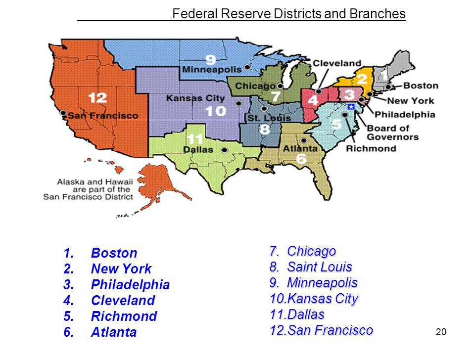Federal Reserve Districts and Branches