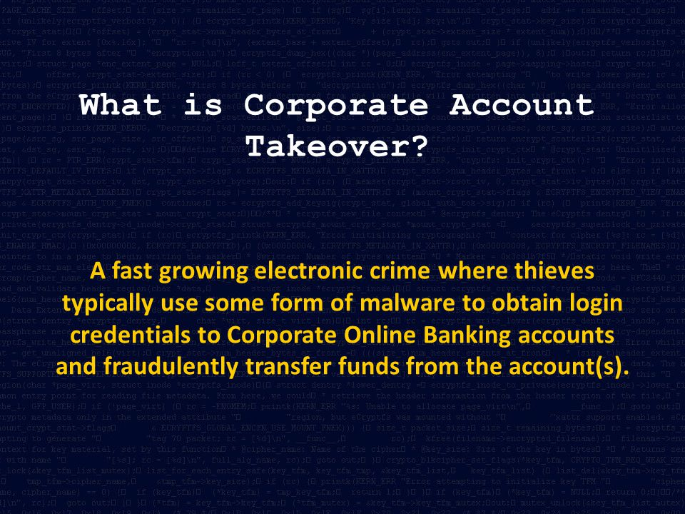 What is Corporate Account Takeover