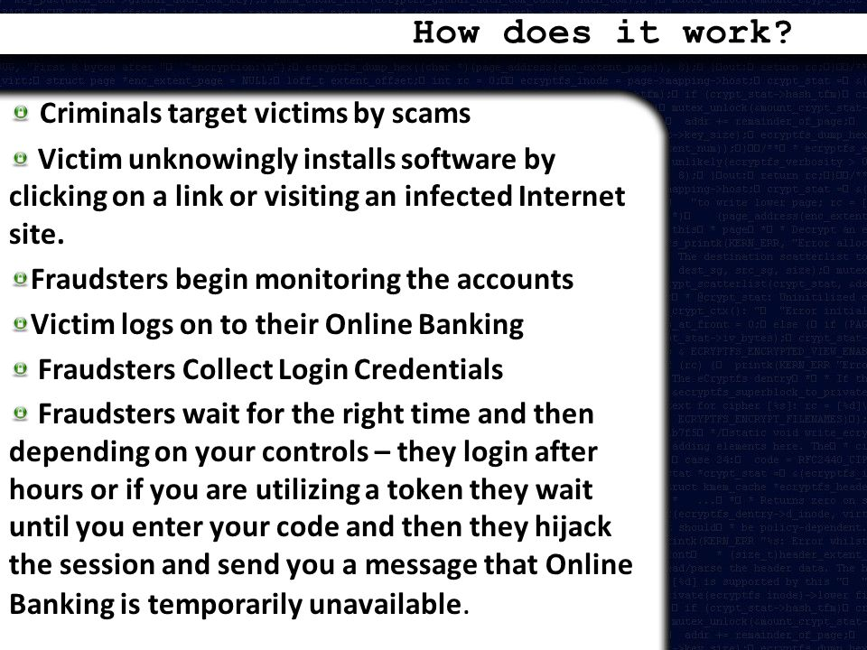 How does it work Criminals target victims by scams